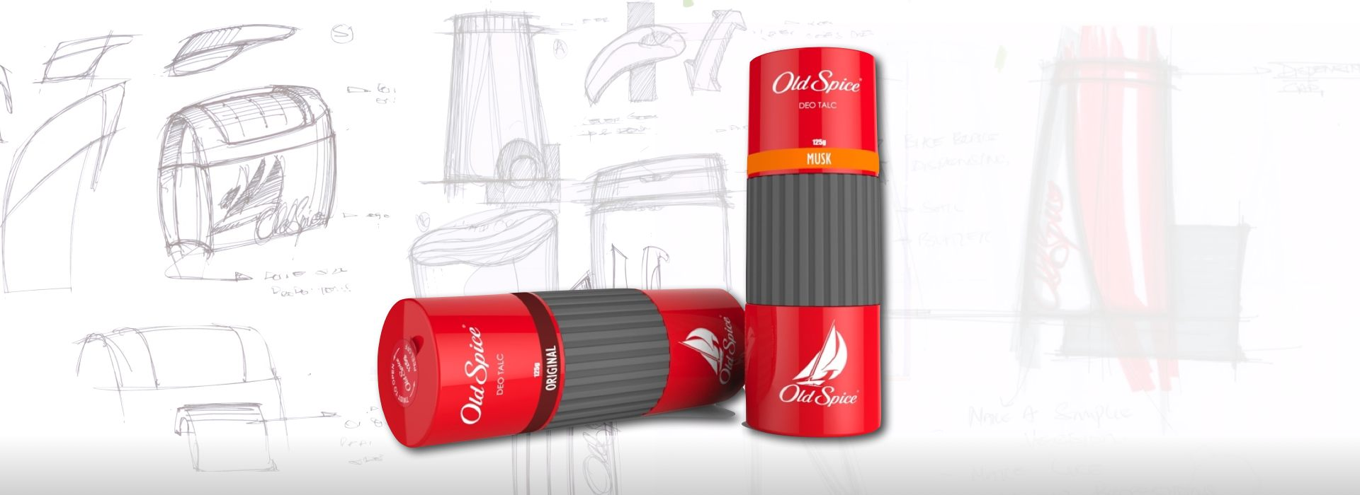 Packaging Old Spice Deo Talc